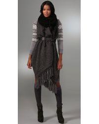 Rag & Bone | Gray Iris Scarf Vest | Lyst