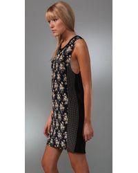 Rozae - Blue Navy Bouquet Dress - Lyst