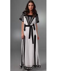 Temperley London - White Domitia Caftan Dress - Lyst