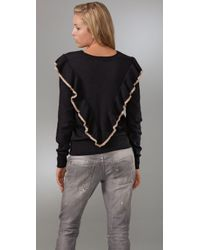 Tigerlily - Black Frill Tip Sweater - Lyst