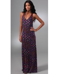 Tory Burch | Blue Clarimond Long Dress | Lyst
