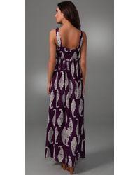 Tory Burch | Purple Petula Silk-georgette Maxi Dress | Lyst