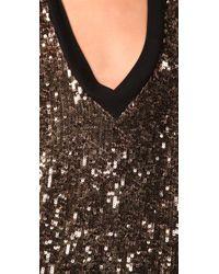 Twelfth Street Cynthia Vincent | Black Gold Sequin T-shirt Dress | Lyst