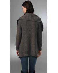 Vince | Gray Oversized Pocket Sweater Coat | Lyst