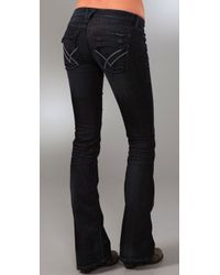 William Rast - Blue Bell Flare Ankle Jeans with Flap Pockets - Lyst
