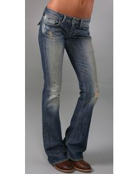 William Rast | Blue Belle Flap Flare Jeans | Lyst