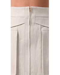 Alexander Wang   White Saddie Constructed Mini Skirt   Lyst