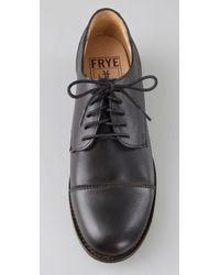 Frye | Black Erin Oxford Flats | Lyst