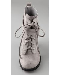 Joe's Jeans - Gray Trailblazer Suede Combat Booties - Lyst