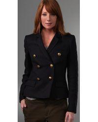 JOSEPH - Blue Navy Emmanuelle Double Breasted Jacket - Lyst
