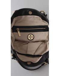 Tory Burch | Alice Wet Nylon Tote in Black | Lyst