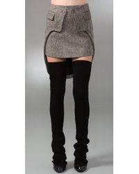 Alexander Wang | Gray Fitted Miniskirt with Tailcoat Detail | Lyst