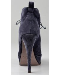Elizabeth and James - Blue E-moxy Suede Bootie - Lyst