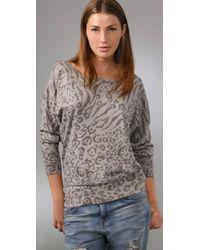Joie - Gray Leopard Print Rusty Sweater - Lyst