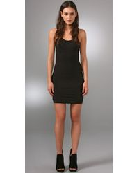 T By Alexander Wang | Black Modal Spandex Cami Layering Dress | Lyst