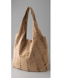 Twelfth Street Cynthia Vincent - Natural Cone Stud Grocery Bag - Lyst