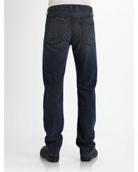 7 For All Mankind - Blue Brea Tar Straight-leg Jeans for Men - Lyst