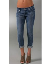 7 For All Mankind | Blue Roxanne Flood Jeans | Lyst