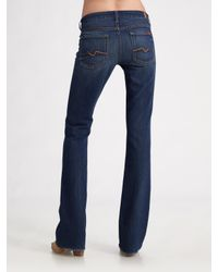 7 For All Mankind | Brown Kimmie Bootcut Jeans | Lyst