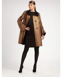 Akris | Metallic Luxury-blend Reversible Coat | Lyst