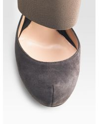 Akris Punto - Brown Leather Pencil Skirt - Lyst