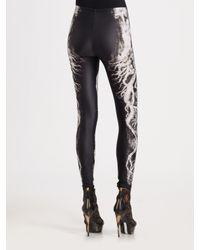 Alexander McQueen - Black Tree Print Leggings - Lyst