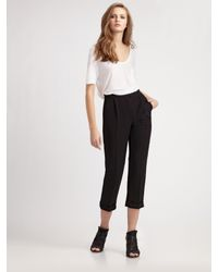 Alexander Wang | Black Core Straight Leg Stretch Cotton Pants | Lyst