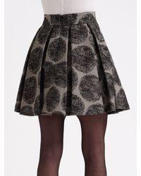 Alice + Olivia | Black Flyn Faux Snakeskin Dress | Lyst