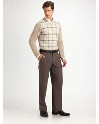 Armani - Natural Check Sweater for Men - Lyst