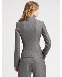 Armani - Gray Envelope Collar Tweed Jacket - Lyst