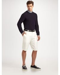 Armani | Natural Linen Shorts for Men | Lyst