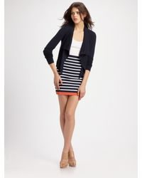 BCBGMAXAZRIA | Blue Stretch Striped Tube Skirt | Lyst