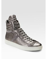 BOSS Orange | Gray Glitter Mid I High-top Sneakers for Men | Lyst
