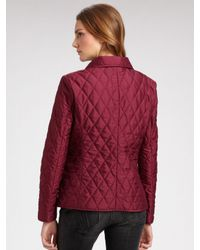 Burberry Brit | Red Quilted Single-breasted Jacket | Lyst