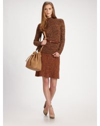 Chloé | Natural Cashmere-wool Knit Skirt | Lyst