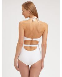Chloé | White Halter One-piece Swimsuit | Lyst