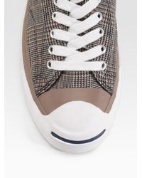 Converse - Brown Jack Purcell Glen Plaid Oxfords for Men - Lyst