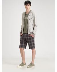 Converse | Green Chuckin Plaid Shorts for Men | Lyst