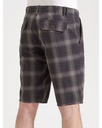 Converse - Green Chuckin Plaid Shorts for Men - Lyst