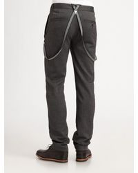 Converse | Gray Suspender Pants for Men | Lyst