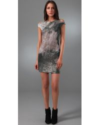 Cut25 by Yigal Azrouël - Gray Decay-print Dress - Lyst