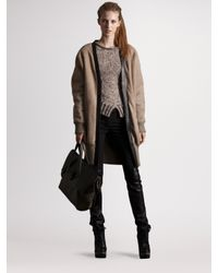 Derek Lam | Natural Shearling Cardigan Coat | Lyst