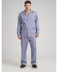 Derek Rose | Blue Wellington Cotton Pajamas Set for Men | Lyst