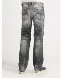 DIESEL - Blue Viker Straight-leg Jeans/grey for Men - Lyst