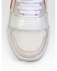 DIESEL   White Deco Impression Strap High-top Sneakers for Men   Lyst