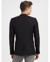 Dior Homme - Black Linen-lapel Blazer for Men - Lyst