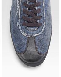 Dolce & Gabbana | Blue Denim Sneakers for Men | Lyst