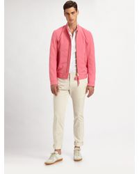 DSquared² | Pink Cotton Bomber Jacket for Men | Lyst