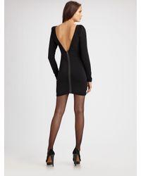 Elizabeth and James | Black Holiday Long Sleeve Zip Back Luna Dress | Lyst
