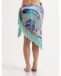 Emilio Pucci - Multicolor Cotton/silk Sarong Coverup - Lyst